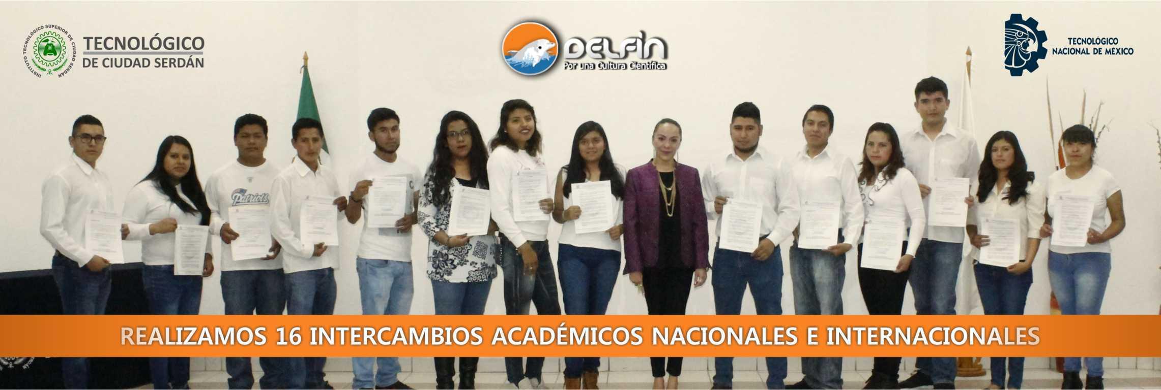 Realizamos 16 Intercambios académicos Nacionales e internacionales (Programa Delfín)