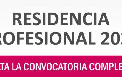 Convocatoria Residencia Profesional Agosto Diciembre 2020