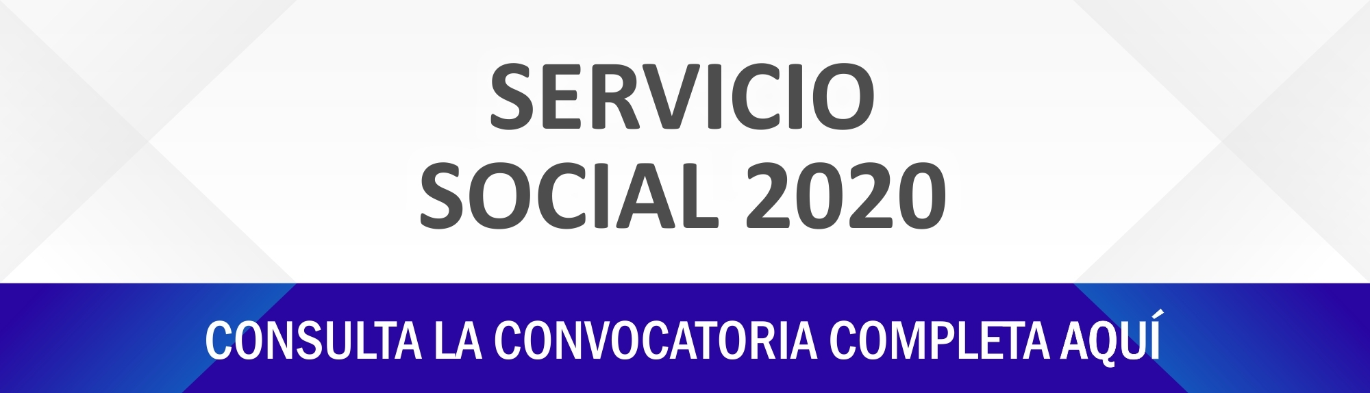 Convocatoria Servicio Social agosto – diciembre 2020