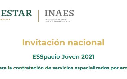 Invitación ESSpacio Joven 2021